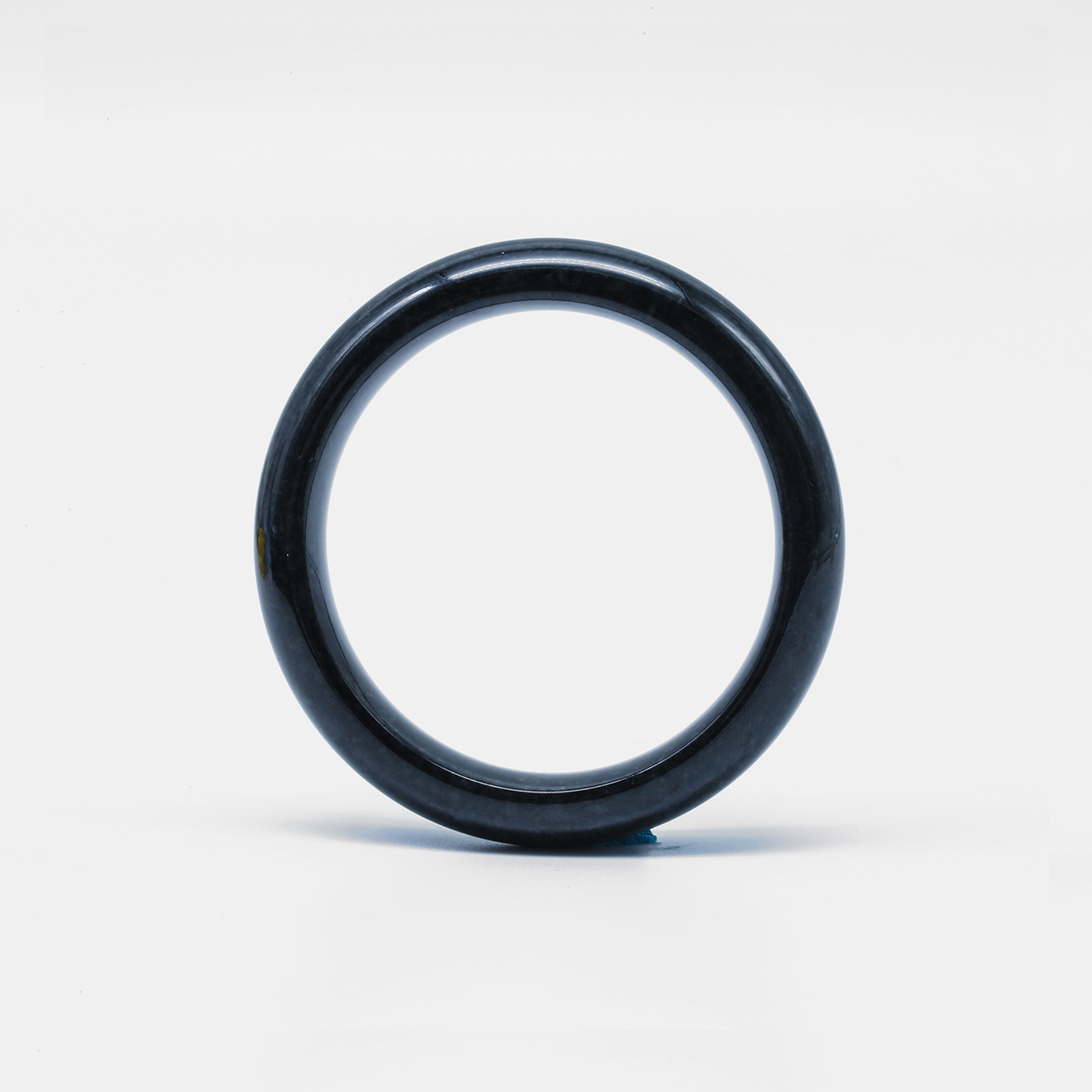 Pure Black Jadeite Jade Bangle