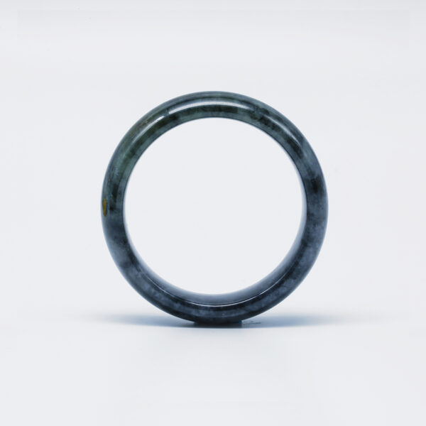 Icy Black Jadeite Jade Bangle