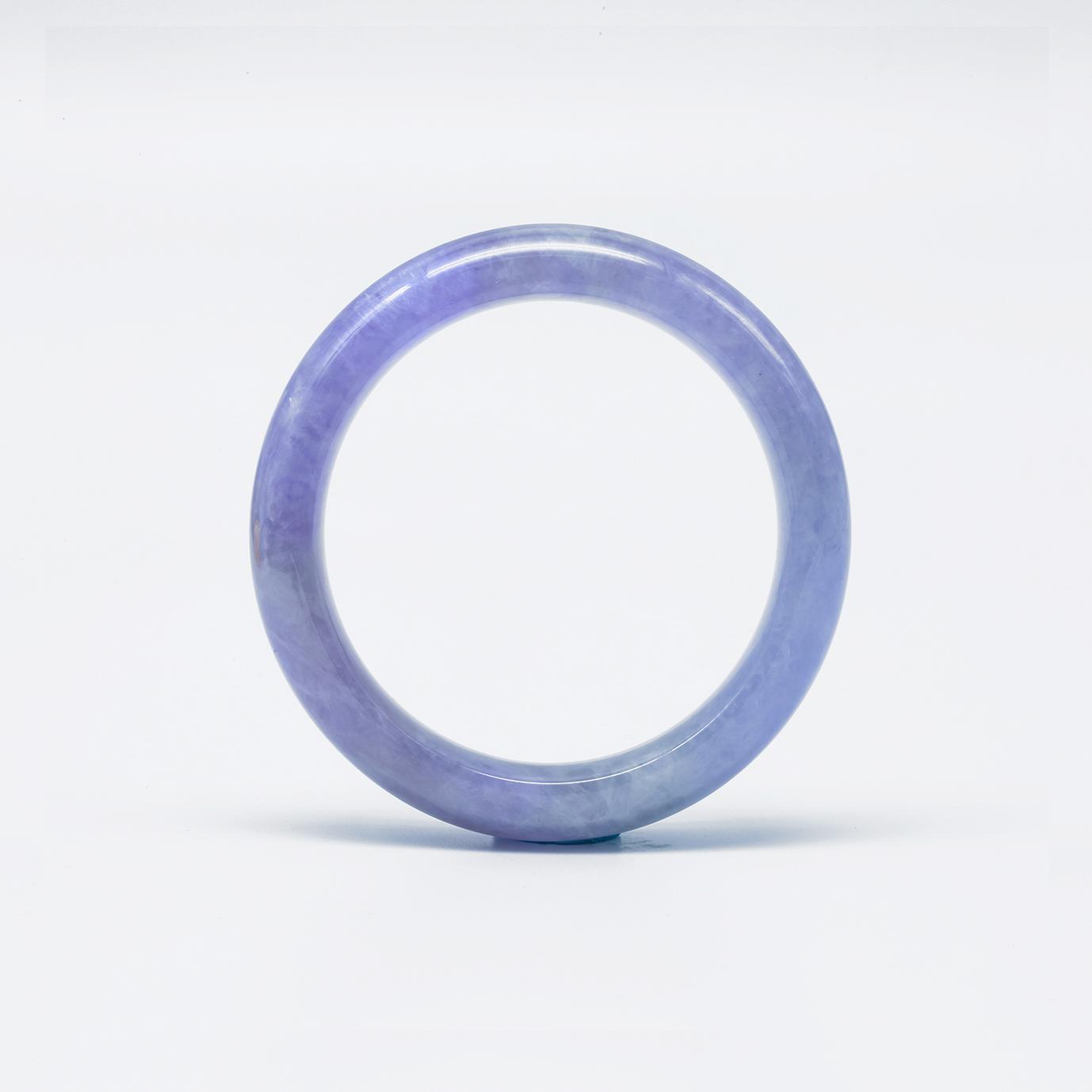 Icy Purple Jadeite Jade Bangle