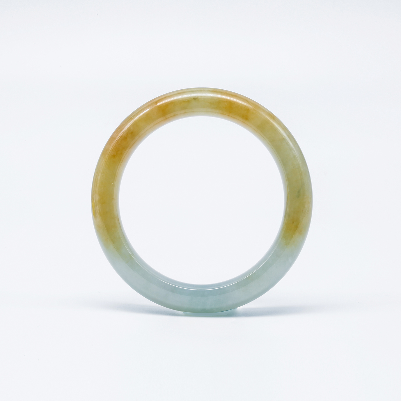 Transclucent Yellow Jadeite Jade Bangle