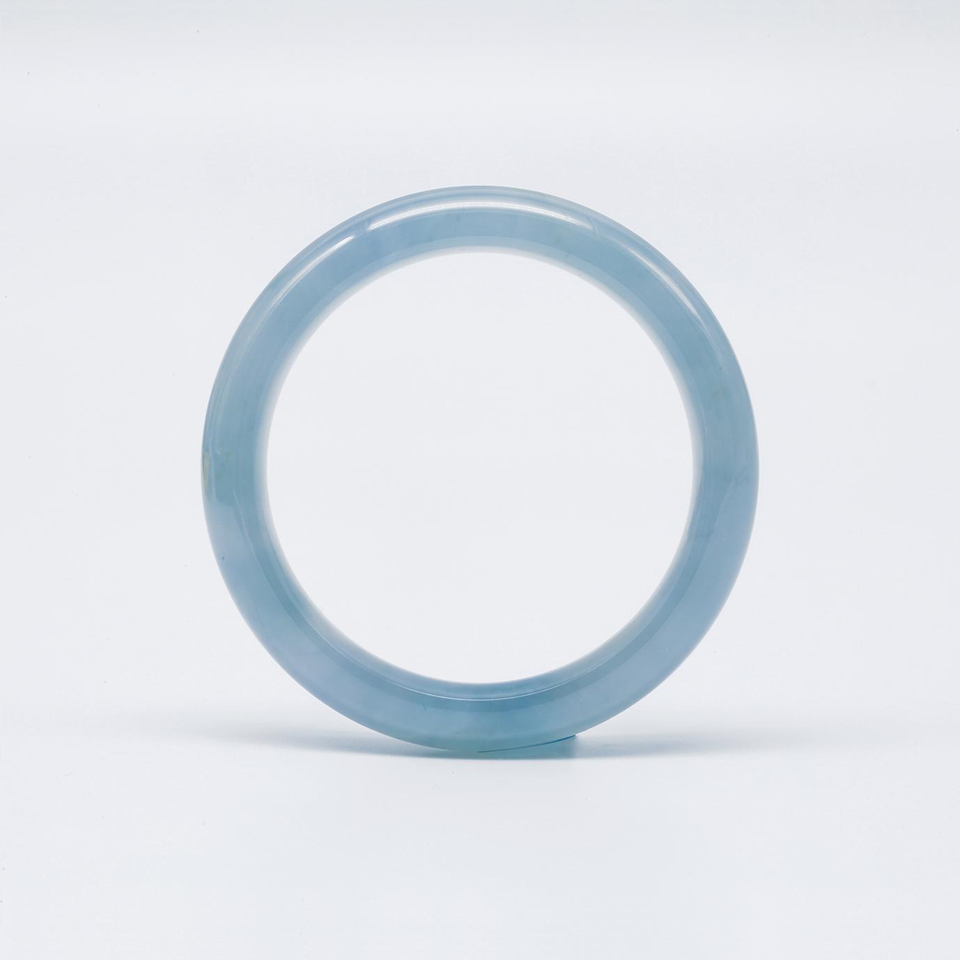 Clear Translucent Jadeite Jade Bangle