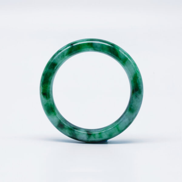 Translucent Emerald Green Jadeite Jade Bangle