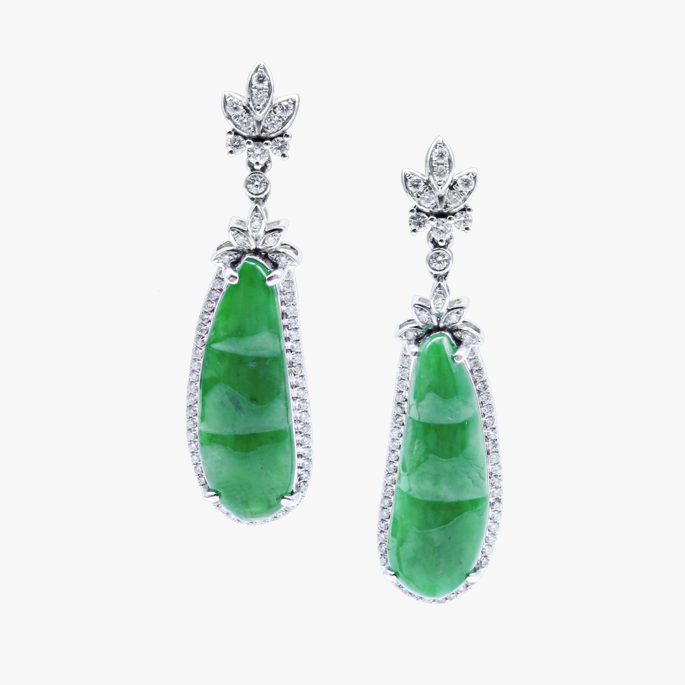 Imperial Green Jadeite Jade Earrings