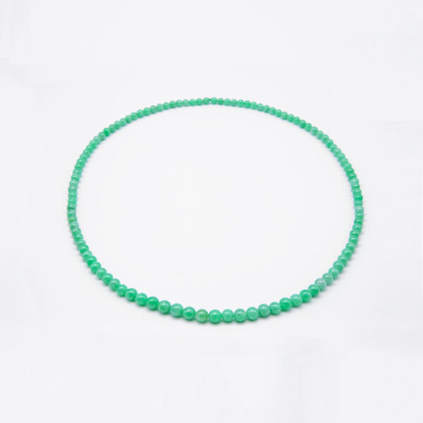 Icy Green Petite Jadeite Jade Pearl Necklace