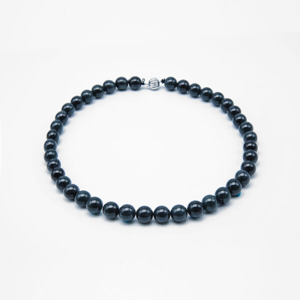 Black Jadeite Jade Pearl Necklace