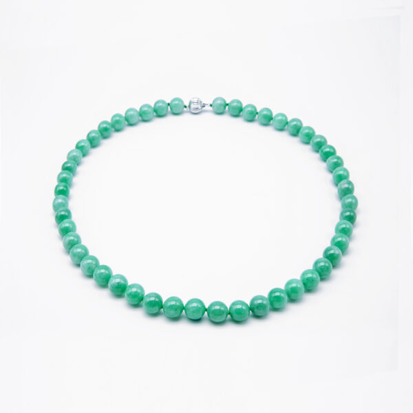 Classic Icy Green Jadeite Jade Peal Necklace