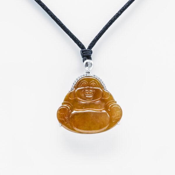 Translucent Red Buddha Jadeite Jade Pendant