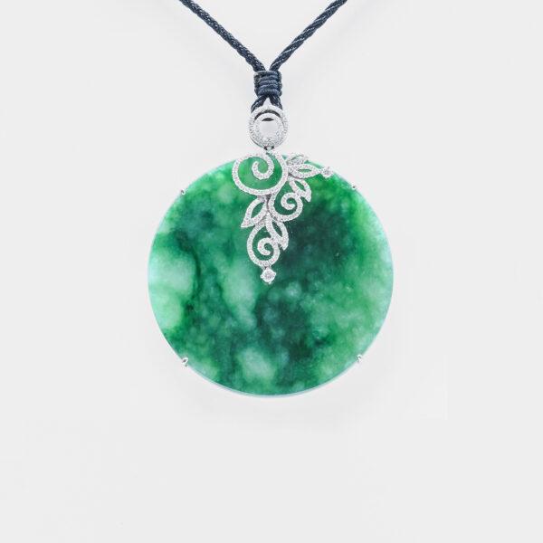 Emerald Green Eternity Shape Jadeite Jade Pendant