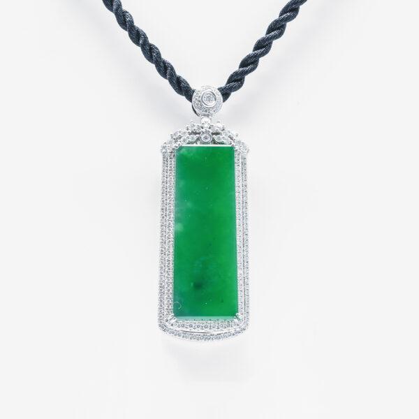 Transcluent Classic Jadeite Jade Pendant for Him or Her