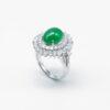 Ballgown Icy Green Jadeite Jade Ring