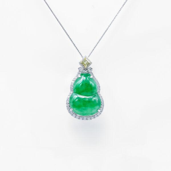 Icy Green Wulu Jadeite Jade Pendant