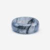 Icy Black Jadeite Jade Ring