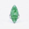 Marquise Shape Jade Ring