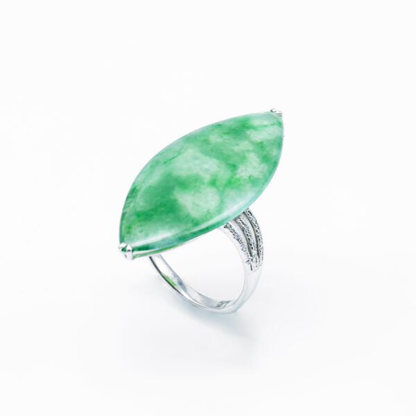 Marquise Shape Jade Ring