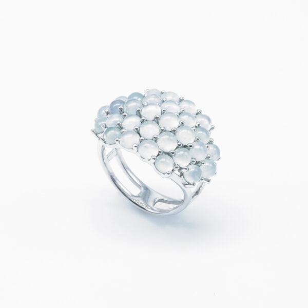 Petite Icy Round Jadeite Jade Ring