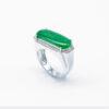 Men's Frosted Jadeite Jade Ring